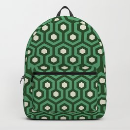 Emerald Goth Hexagons Pattern Backpack