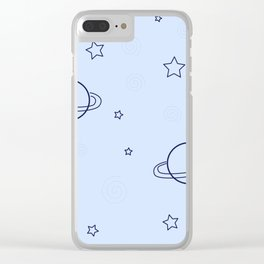 Simple space pattern Clear iPhone Case