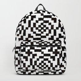 Geometric Black & White Backpack