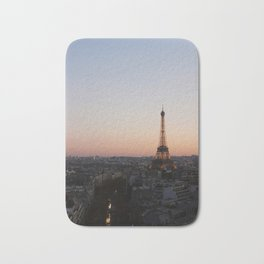 Eiffel Tower During Sunset Bath Mat