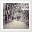 Snowy forest by lenaweiss