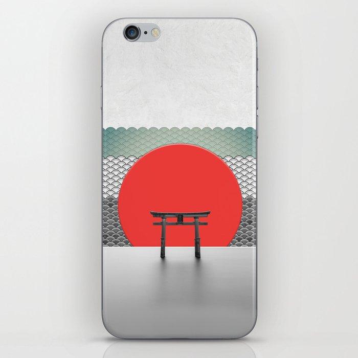 The Red Sun iPhone Skin