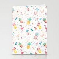 pinapple Stationery Cards featuring Trop-i-COOL by Laura Francis