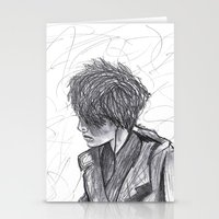 ben giles Stationery Cards featuring Ben by Vidility