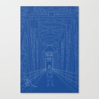 blueprint Canvas Prints featuring Blueprint by Sophie Broyd