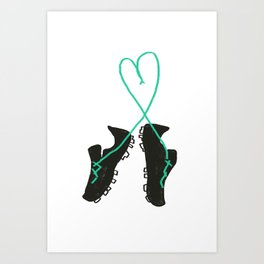 Futbol Love Art Print