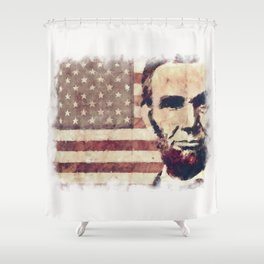 Patriot President Abraham Lincoln Shower Curtain