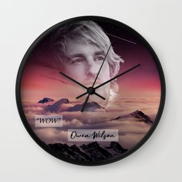 """WOW"" Owen Wilson Wall Clock"