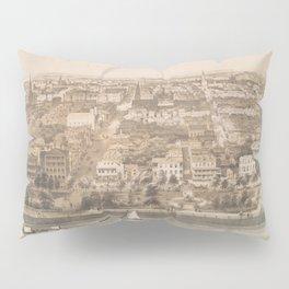 Vintage Pictorial Map of Charleston SC (1851) Pillow Sham