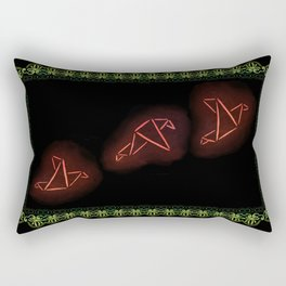 Flying Origami Birds Rectangular Pillow