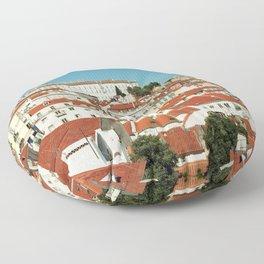 Lisbon view, Portugal Analog 6x6 Kodal Ektar 100 (RR 166) Floor Pillow