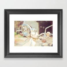 Sunny Vespa Framed Art Print