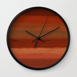 Autumn Sunset III Wall Clock
