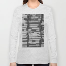 VHS Retro (Black and White) Long Sleeve T-shirt