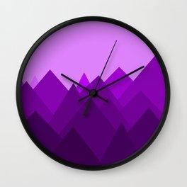 Abstract Purple Alien Landscape Wall Clock