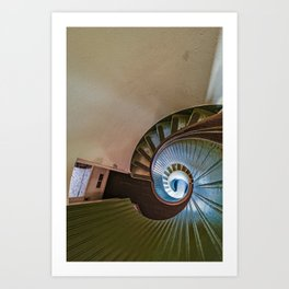 Spiral Staircase in the Old Lighthouse Art Print