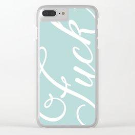 Pastel Mint Fuck Clear iPhone Case