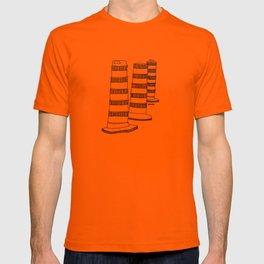 Montreal - Cones oranges - Black T-shirt