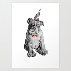 Party Dog Art Print