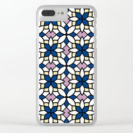 Moroccan Blue Clear iPhone Case