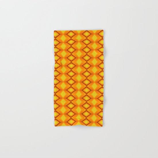 Diamonds II - orange/yellow Hand & Bath Towel