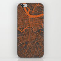 philadelphia iPhone & iPod Skins featuring Philadelphia 2 by Map Map Maps
