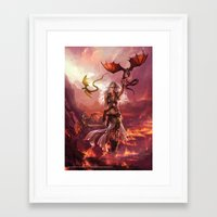"targaryen Framed Art Prints featuring Daenerys Targaryen ""A Song of Ice and Fire"" ( A Game of Thrones ) by Magali Villeneuve"