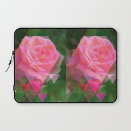 Pink Roses in Anzures 2 Art Triangles 1 Laptop Sleeve