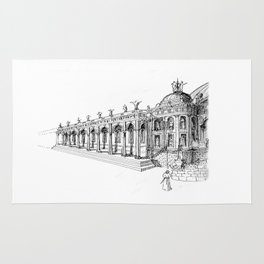 Temple . XVIII Century. Drawing by Tereza Del Pilar Rug