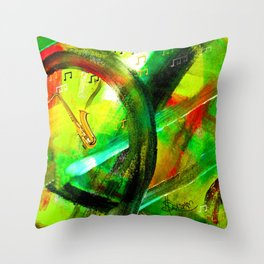 All That Jazz! Throw Pillow