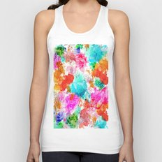 Koi Pond, Water Lilly Unisex Tank Top