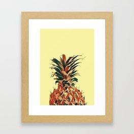 Retro pineapple Framed Art Print
