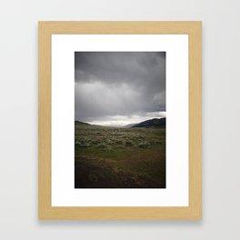 Lamar Valley Framed Art Print