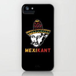 Philosopher Immanuel Kant Mexico Sombrero Mexikant iPhone Case