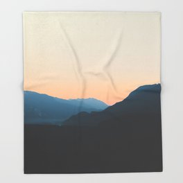 West Coast Sunset Throw Blanket
