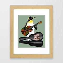 Penguin Busking Framed Art Print