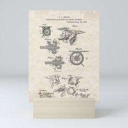 Distributing Mechanism for Seeding Machines Vintage Patent Hand Drawing Mini Art Print