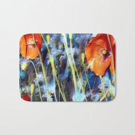 Abstract Poppies Bath Mat