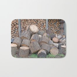 AFTER ENLIGHTENMENT CHOP WOOD Bath Mat