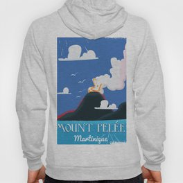 Mount Pelée Martinique  Vintage Travel poster. Hoody