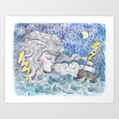 The Wind and The Sea Art Print