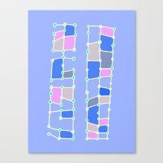 Indoor Constellation (Purple) Canvas Print