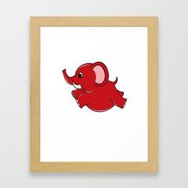 Plumpy Elephant Framed Art Print
