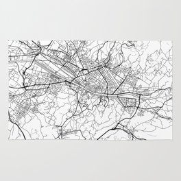 Florence Map White Rug