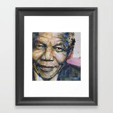 Nelson Mandela Framed Art Print
