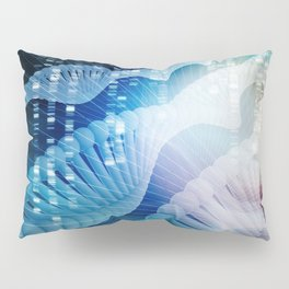 DNA Molecule Helix Science Abstract Background Art Pillow Sham
