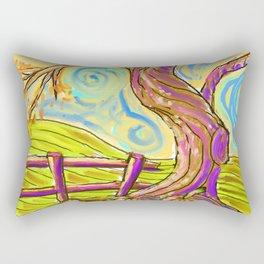 Fall On The Hill Rectangular Pillow
