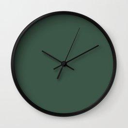 Christmas Evergreen Pine Garland Wall Clock