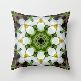 Canada anemone mandala 875 kal1 Throw Pillow