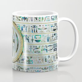 Abalone Shell Egyptian Ankh Cross symbol Coffee Mug